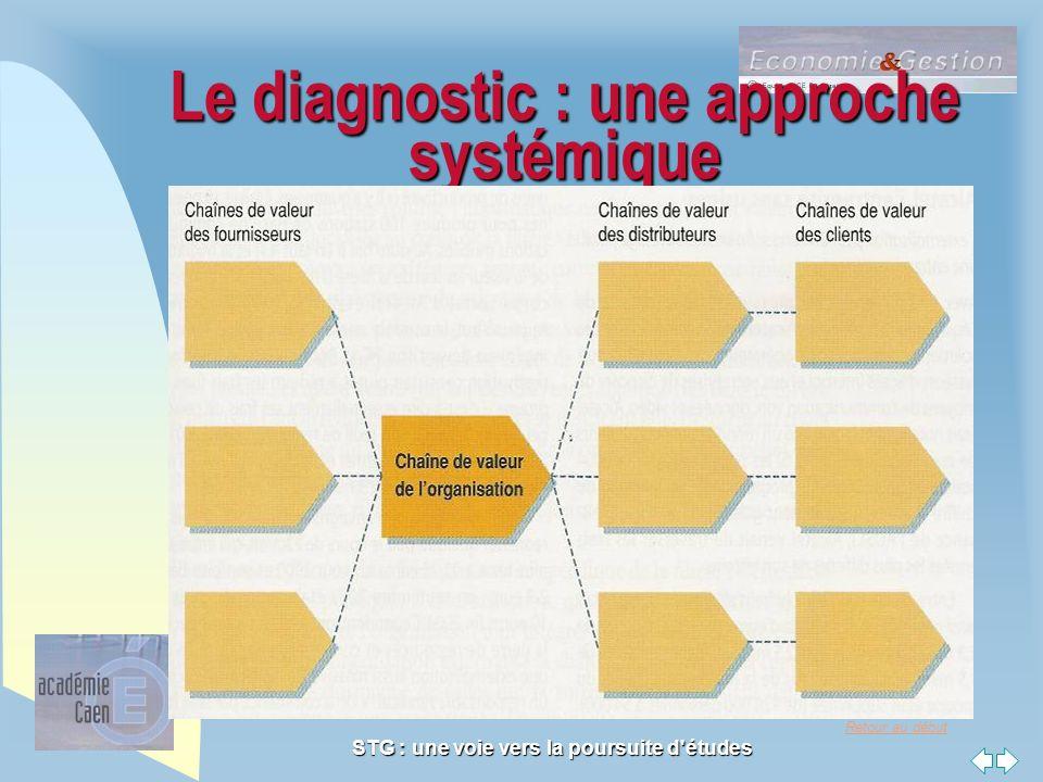 Retour au début STG : une voie vers la poursuite d'études Le diagnostic : une approche systémique