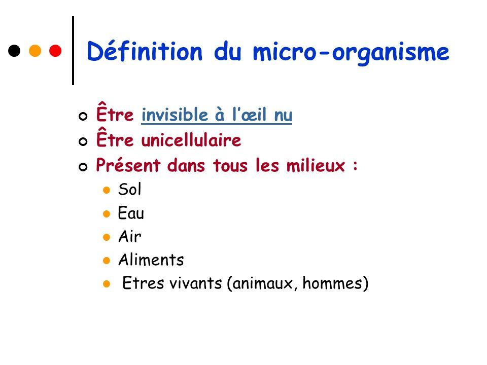 Les différentes familles o Les bactéries Les bactéries o Les virus Les virus o Les champignons Les champignons
