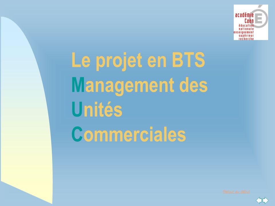 Retour au début Le projet en BTS Management des Unités Commerciales