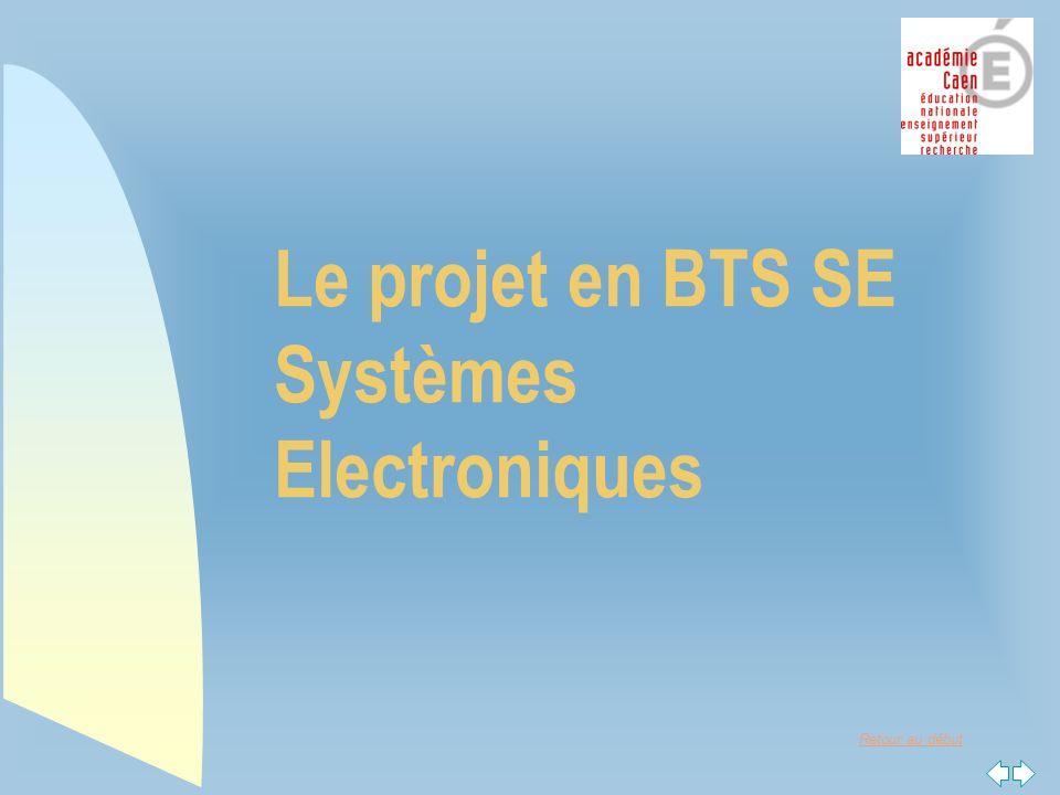 Retour au début Le projet en BTS SE Systèmes Electroniques