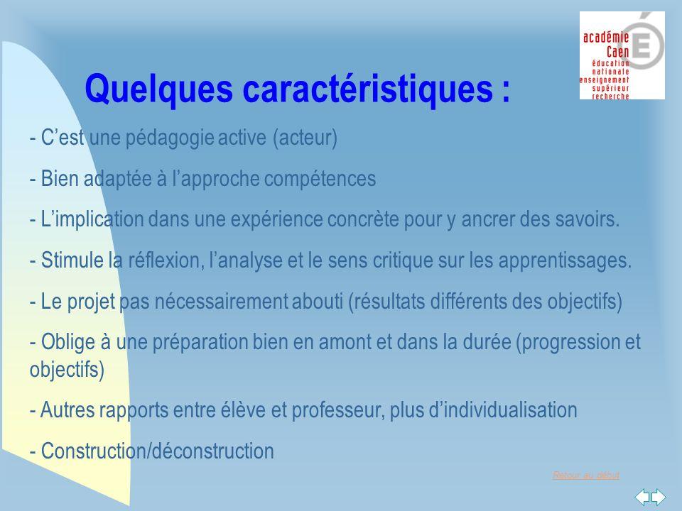 Retour au début Retour dexpérience n Pour les étudiants : u Les +: F Donne du « sens » aux enseignements.