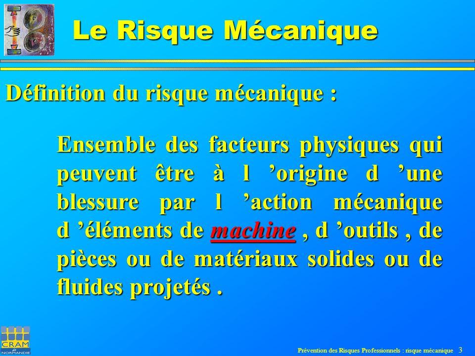 Prévention des Risques Professionnels : risque mécanique 44 Le Risque Mécanique Mesures de réduction ou suppression du risque