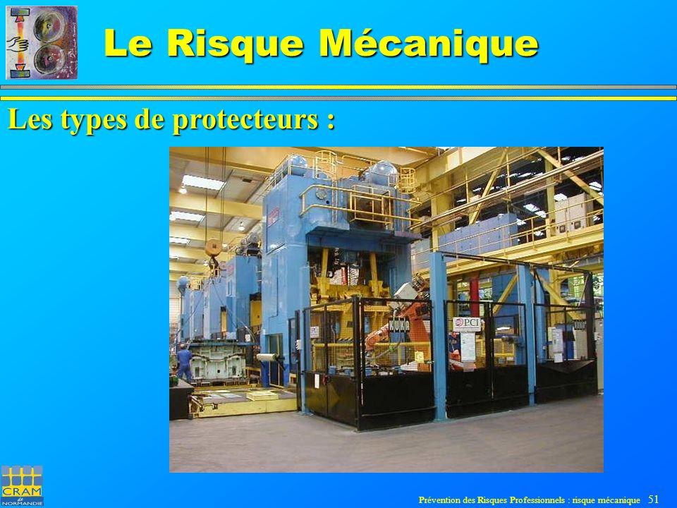 Prévention des Risques Professionnels : risque mécanique 51 Le Risque Mécanique Les types de protecteurs :