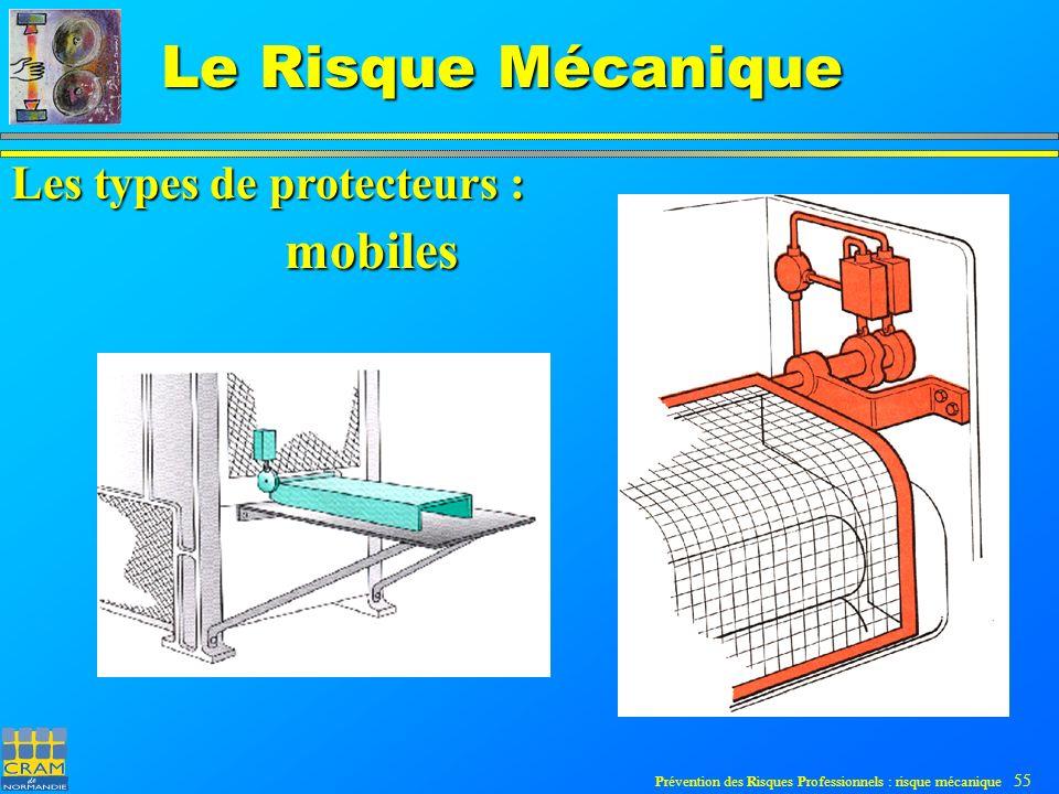 Prévention des Risques Professionnels : risque mécanique 55 Le Risque Mécanique Les types de protecteurs : mobiles