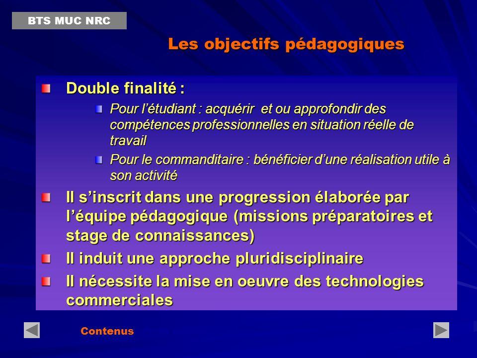 Les Acteurs du projet Missions et Projet Etudiant(s) ÉquipepédagogiquePartenaire(s) Contenus Projet professionnel… BTS MUC NRC Co-responsabilité