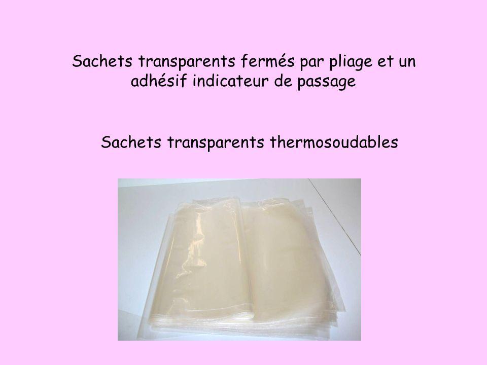 Sachets soudables avec une face papier et une face plastique transparent