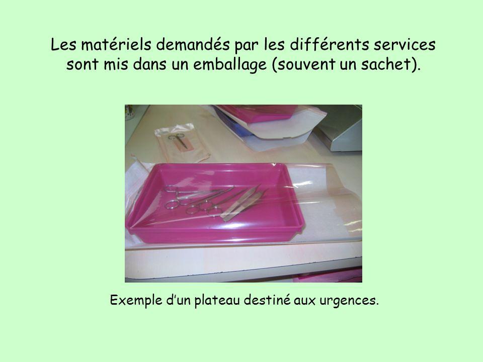 LA PROCEDURE DE TRAVAIL EN CONDITIONNEMENT- STERILISATION Le matériel provenant de la zone tri-lavage doit être conditionné avant dêtre stérilisé. Les