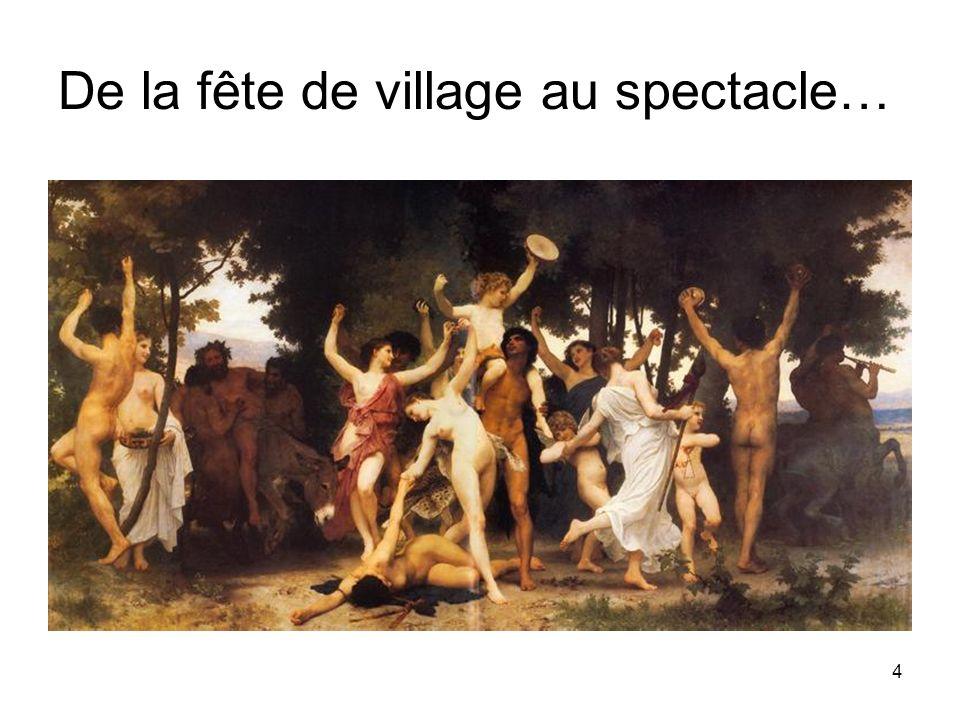 5 Sur la place à danser en terre battue du village, on a dressé une borne de pierre.
