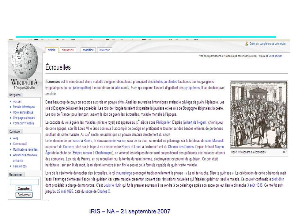 IRIS – NA – 21 septembre 2007