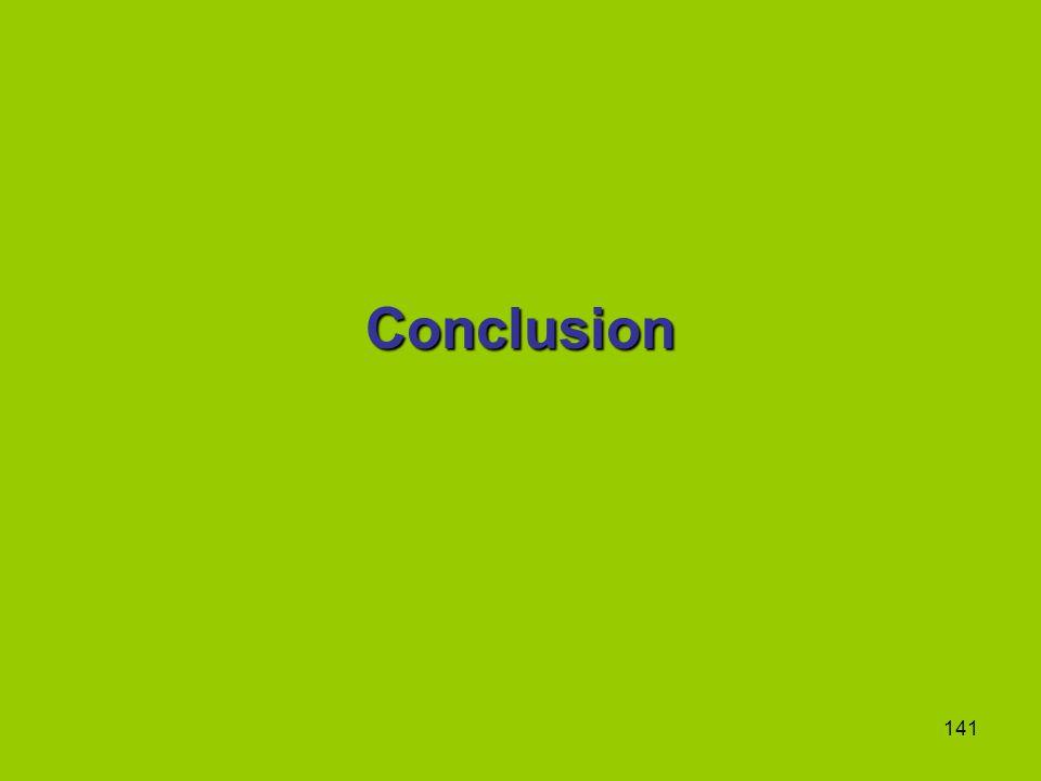 141 Conclusion