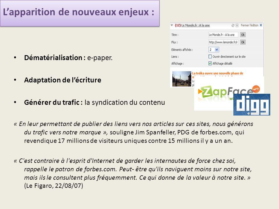 Dématérialisation : e-paper.