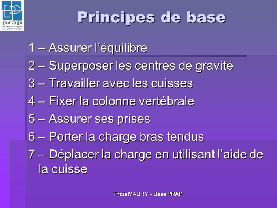 Thaïs MAURY - Base PRAP