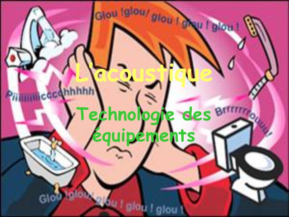 Lacoustique Technologie des équipements