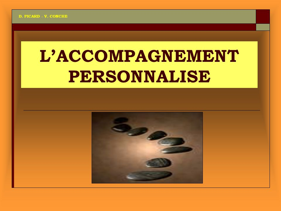 LACCOMPAGNEMENT PERSONNALISE D. PICARD - V. CONCHE