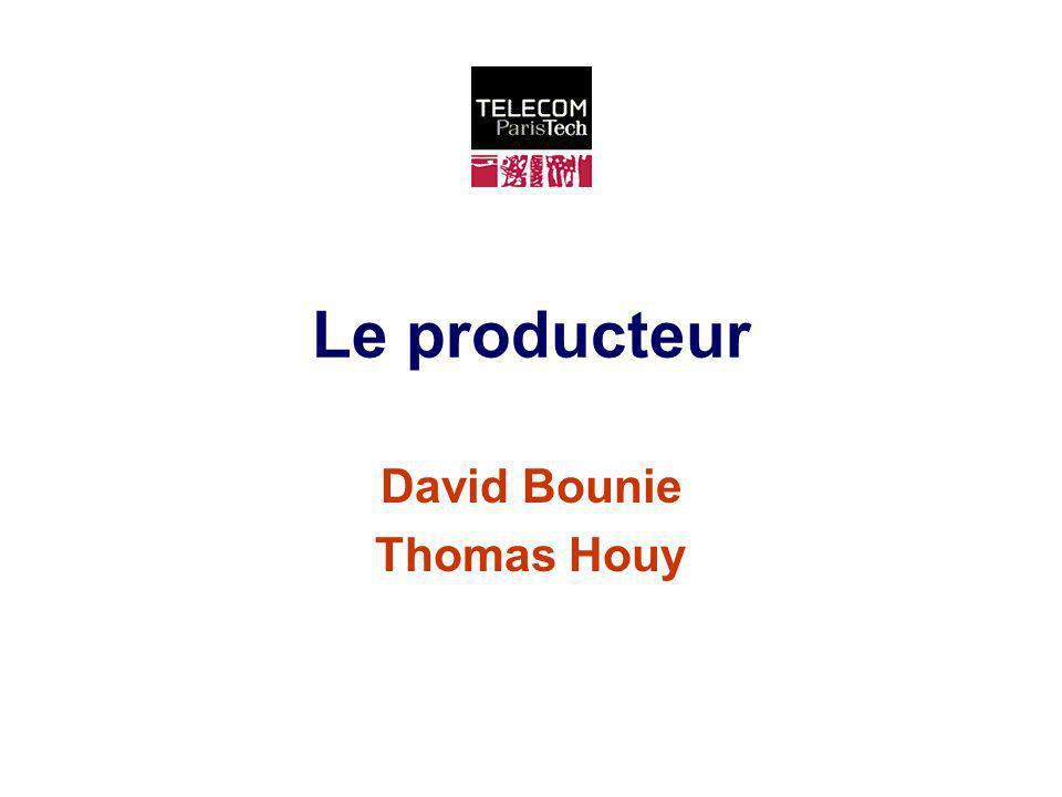 Le producteur David Bounie Thomas Houy