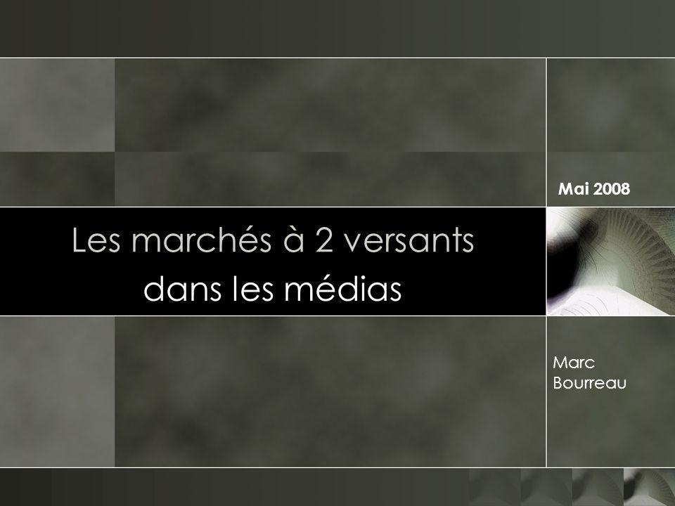 Les marchés à 2 versants dans les médias Marc Bourreau Mai 2008