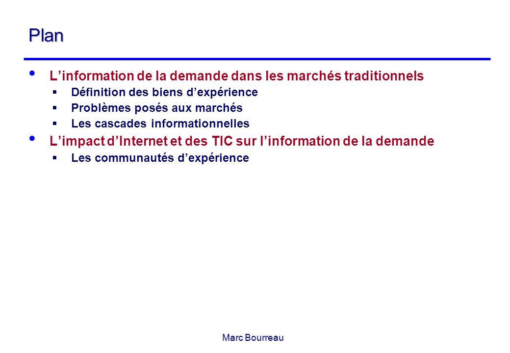 Marc Bourreau 1 – Linformation de la demande dans les marchés traditionnels 1 – Linformation de la demande dans les marchés traditionnels