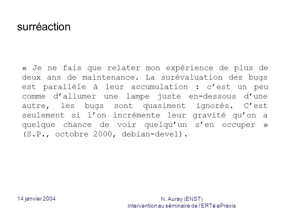 14 janvier 2004 N.