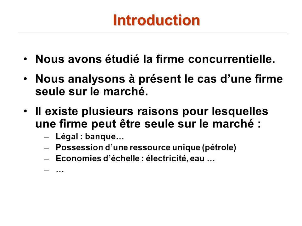 y R(y) = p(y)y Le monopole