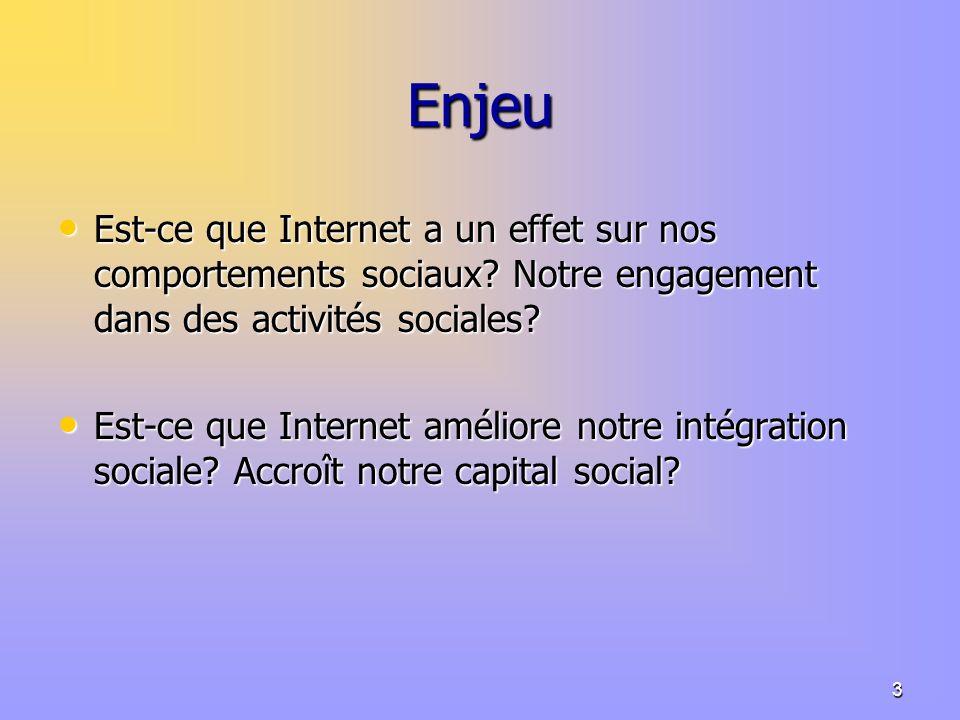 3 Enjeu Est-ce que Internet a un effet sur nos comportements sociaux.