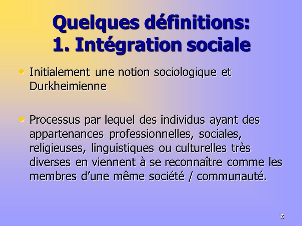 6 Quelques définitions: 1.
