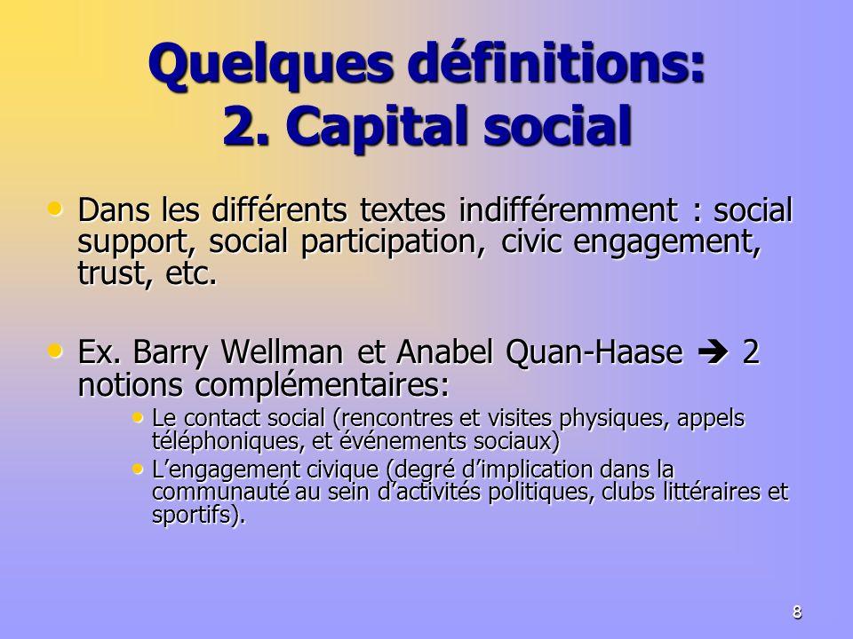 8 Quelques définitions: 2.