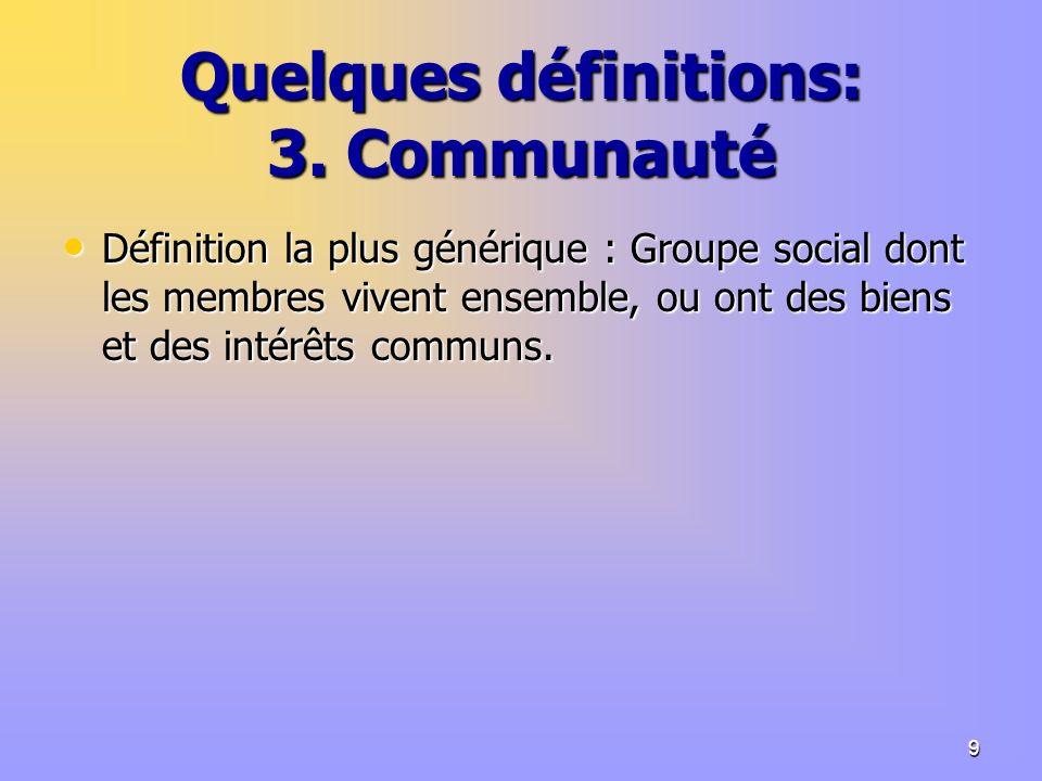9 Quelques définitions: 3.