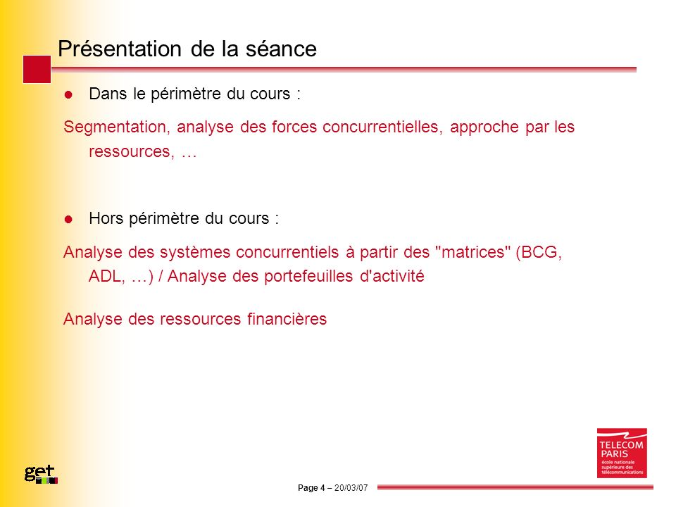 Page 15 – 20/03/07 Diagnostic des ressources 1.
