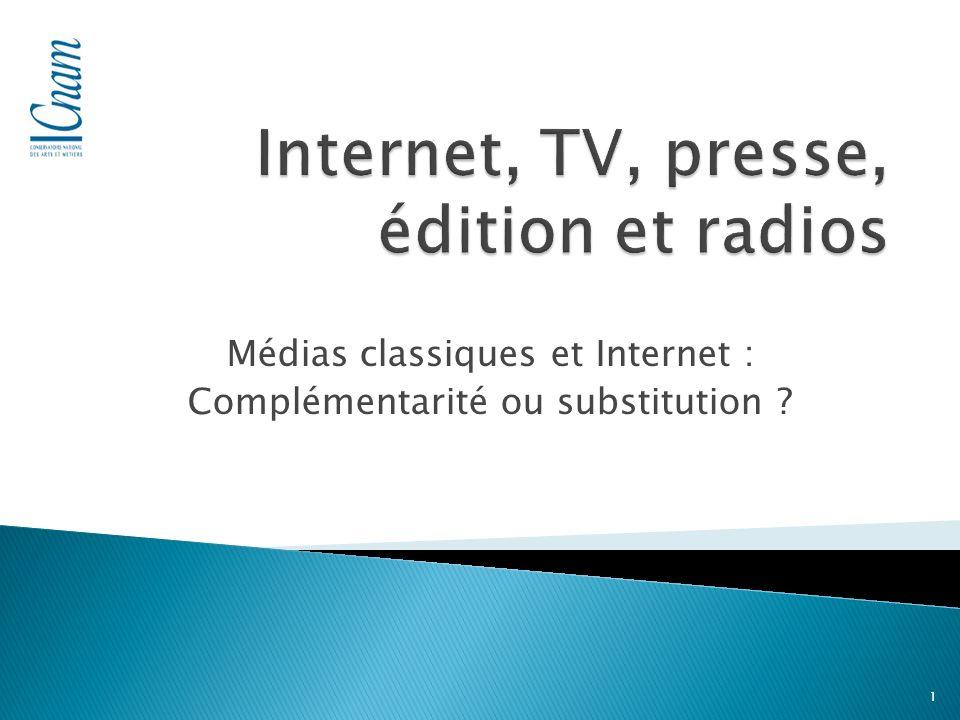 Médias classiques et Internet : Complémentarité ou substitution 1