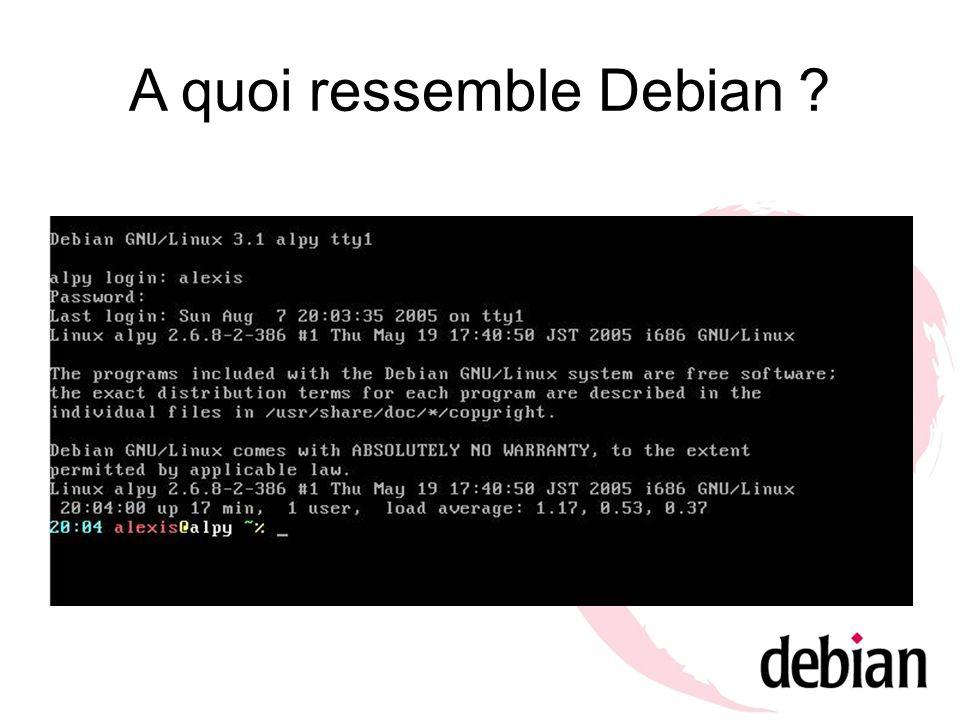 A quoi ressemble Debian ?