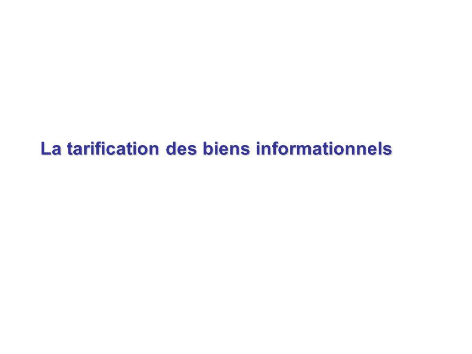 La tarification des biens informationnels