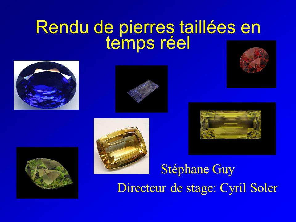 Rendu de pierres taillées en temps réel Stéphane Guy Directeur de stage: Cyril Soler
