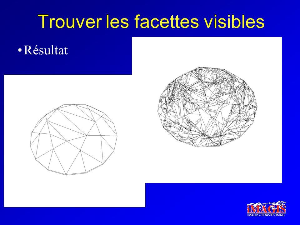 iMAGIS-GRAVIR / IMAG Trouver les facettes visibles Résultat