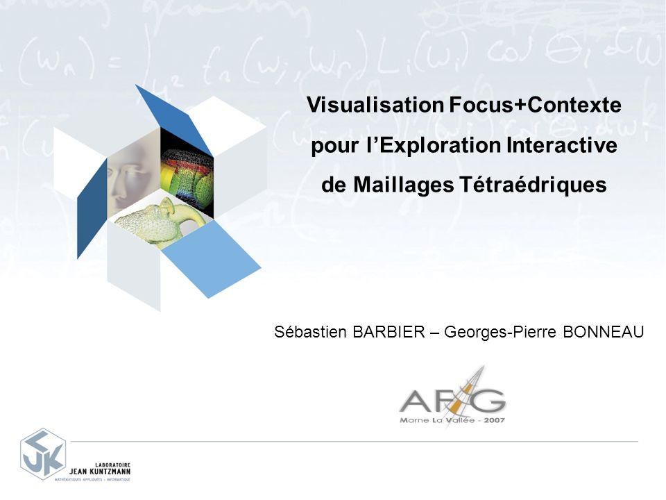 Visualisation Focus+Contexte pour lExploration Interactive de Maillages Tétraédriques Sébastien BARBIER – Georges-Pierre BONNEAU
