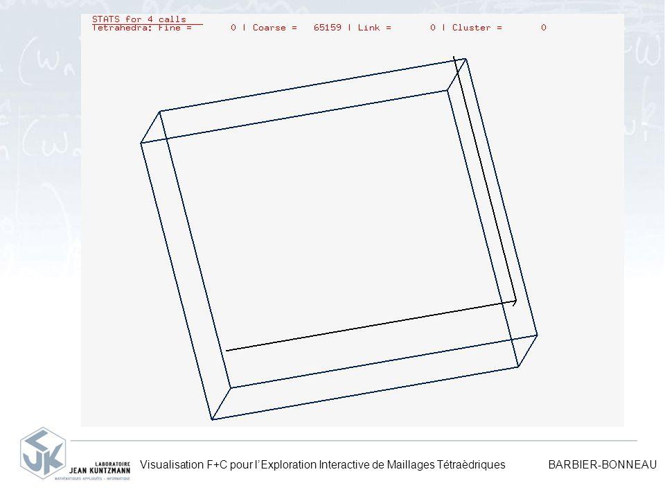 Visualisation F+C pour lExploration Interactive de Maillages Tétraèdriques BARBIER-BONNEAU
