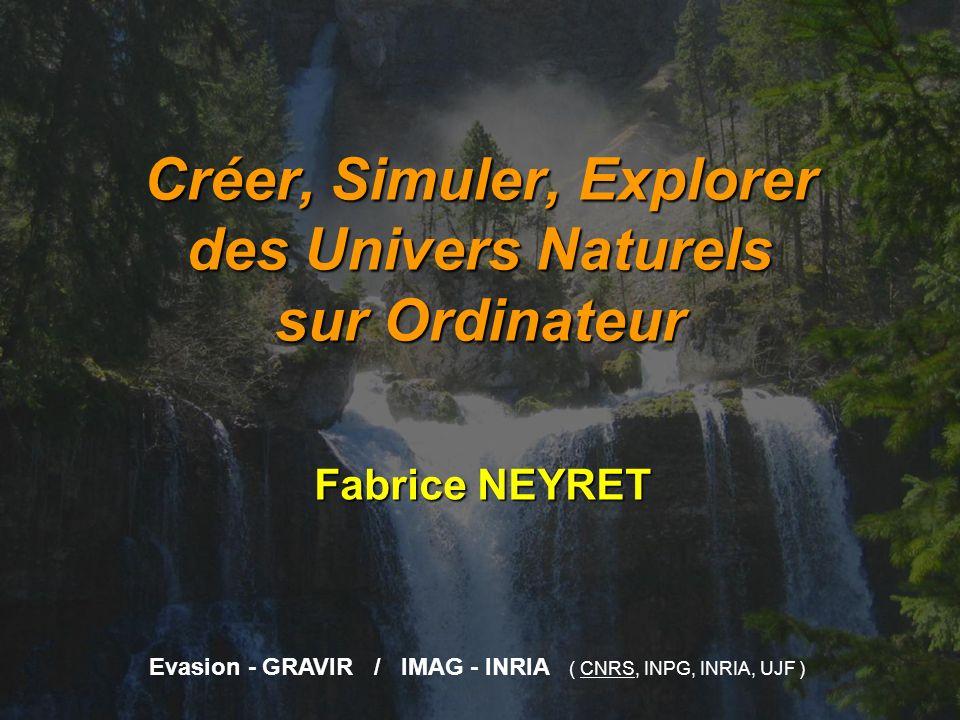 Créer, Simuler, Explorer des Univers Naturels sur Ordinateur Fabrice NEYRET Evasion - GRAVIR / IMAG - INRIA ( CNRS, INPG, INRIA, UJF )