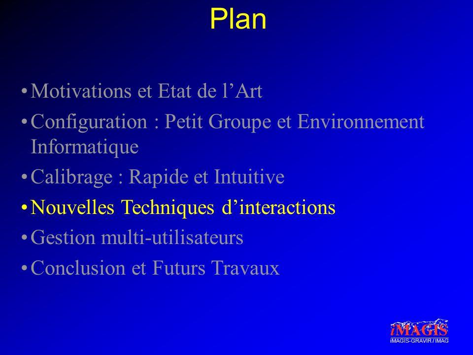 iMAGIS-GRAVIR / IMAG Plan Motivations et Etat de lArt Configuration : Petit Groupe et Environnement Informatique Calibrage : Rapide et Intuitive Nouve