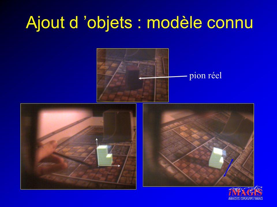 iMAGIS-GRAVIR / IMAG Ajout d objets : modèle connu pion réel