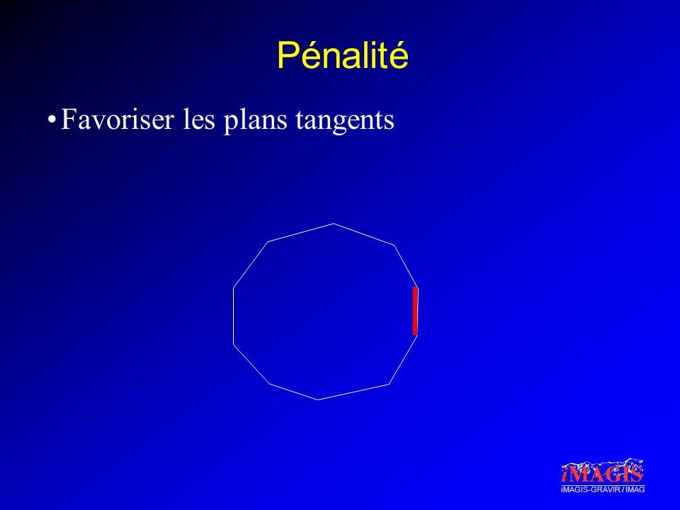 iMAGIS-GRAVIR / IMAG Pénalité Favoriser les plans tangents