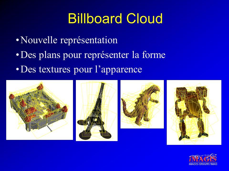iMAGIS-GRAVIR / IMAG Billboard Cloud Nouvelle représentation Des plans pour représenter la forme Des textures pour lapparence