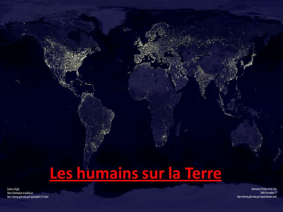 Les humains sur la Terre