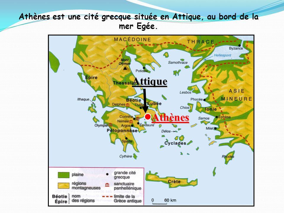 Athènes est une cité grecque située en Attique, au bord de la mer Egée. Athènes Attique
