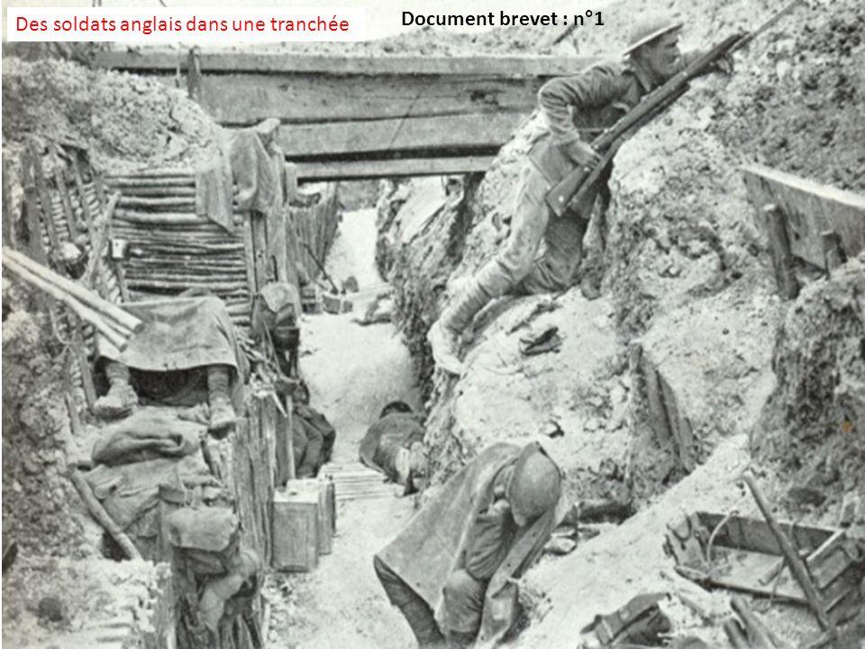 Des soldats anglais dans une tranchée Document brevet : n°1