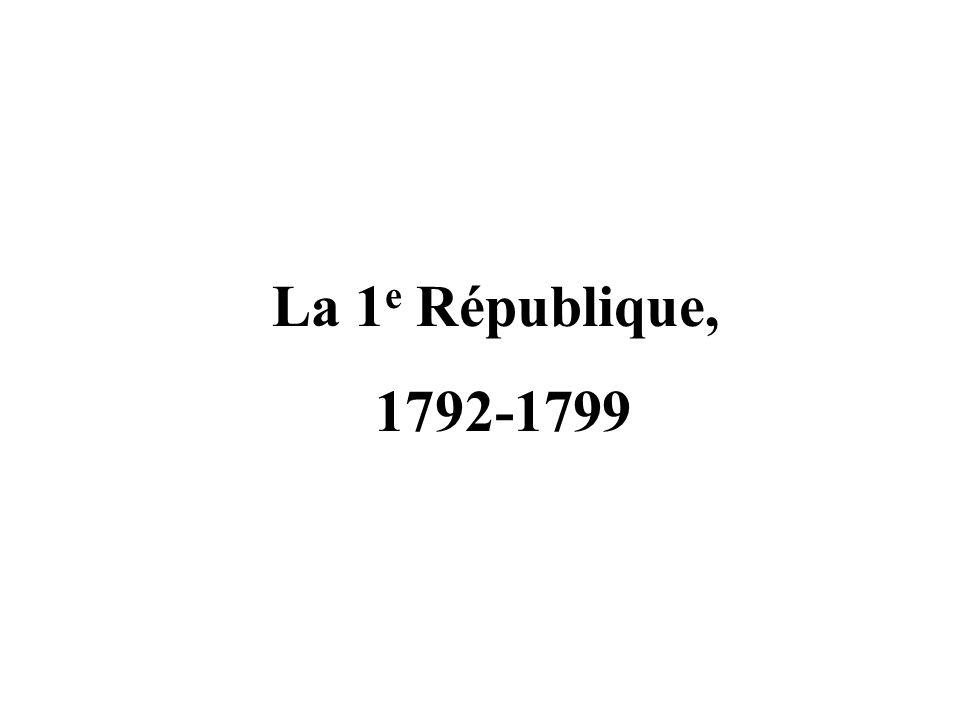 La 1 e République, 1792-1799