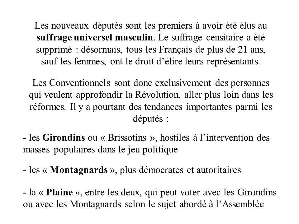 Le 27 juillet 1794 (9 thermidor an 2), quelques députés de la Convention parviennent à convaincre les députés de la Plaine quil faut mettre fin à la Terreur.