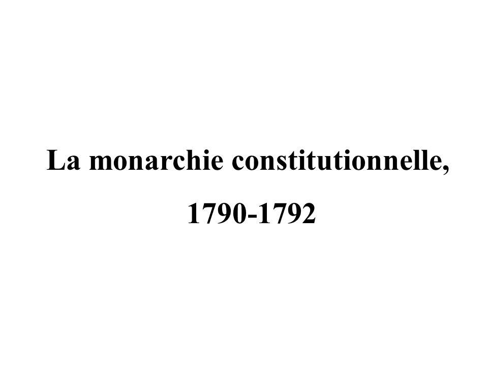 La monarchie constitutionnelle, 1790-1792