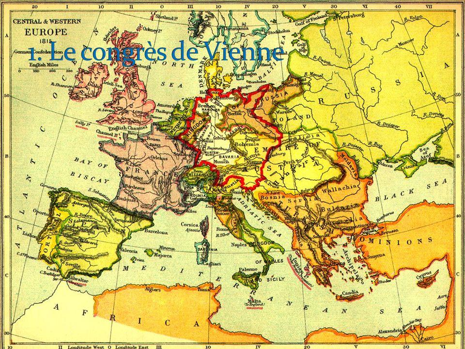 Le congrès de Vienne a lieu de 1814 à juin 1815:.qui sont les participants et que font-ils.