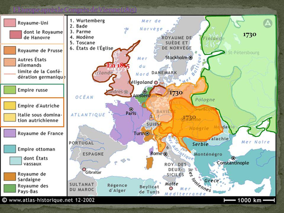 En 1814 et 1815, après la défaite de Napoléon, les représentants des grandes puissances européennes se réunissent en congrès à Vienne pour régler le sort de lEurope libérée de « lUsurpateur ».