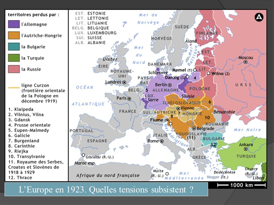 LEurope en 1923. Quelles tensions subsistent ?
