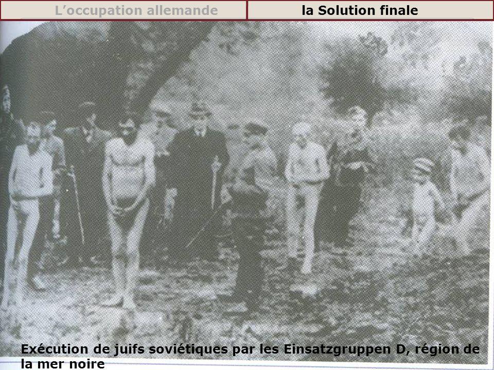 Exécution de juifs soviétiques par les Einsatzgruppen D, région de la mer noire Loccupation allemandela Solution finale